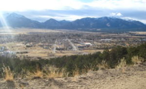 Buena Vista, CO From Midland Hill, site of the old Midland Depot
