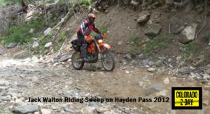 Jack Walton 'sweeping' down Hayden Pass in 2012