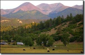 Sangre de Cristo's from Howard, CO on the East side