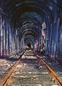 Inside the Alpine Tunnel