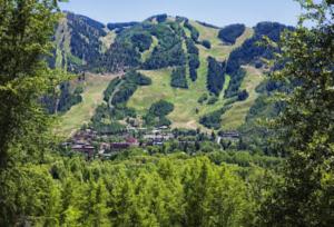 Aspen Ski Slopes in the summer