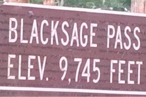 Blacksage Pass Summit