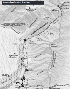 Medano Pass Map