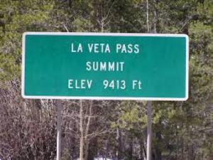 La Veta Pass Summit Sign