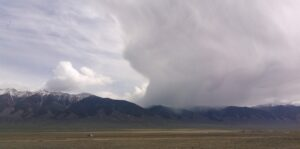 Cloudburst on Hayden Pass from the west side