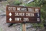 Otto Mears Tollroad sign