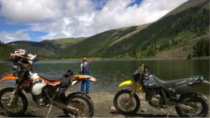 Fishing on Mirror Lake on Tincup Pass