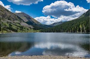 Mirror Lake, an iconic Rocky Mountain alpine lake.