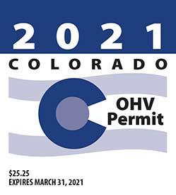 Colorado OHV Sticker Example