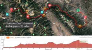 Day 1 Trailride map