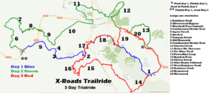 Map 3 day Trailride