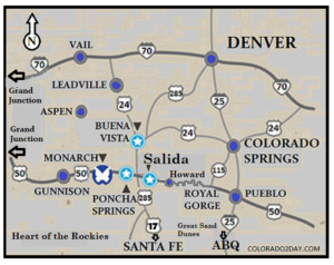 Map of Heart of the Rockies