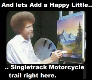 Art Painting Singletrack